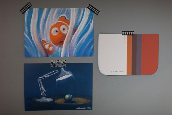 Pixar pastel postcards, colour scheme inspiration