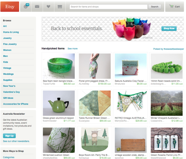 Etsy front page - Treasury by  thesweetbeekeeper