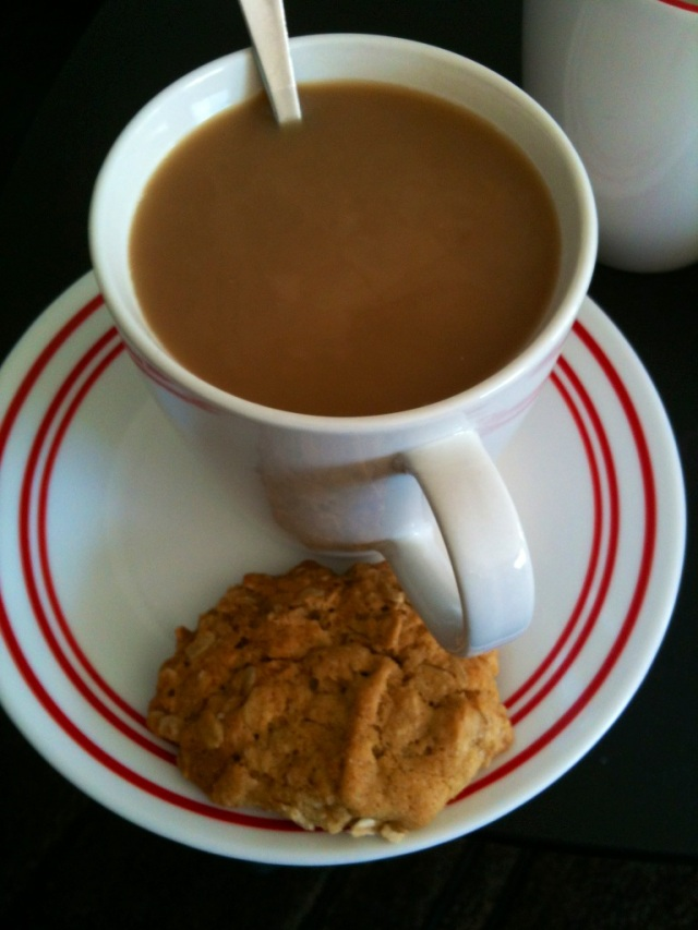 Coffee and a biscuit