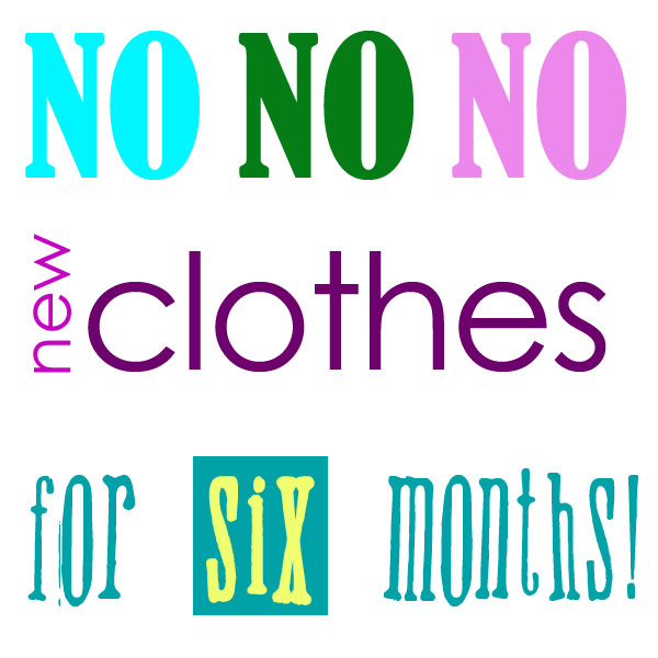 No new clothes pledge