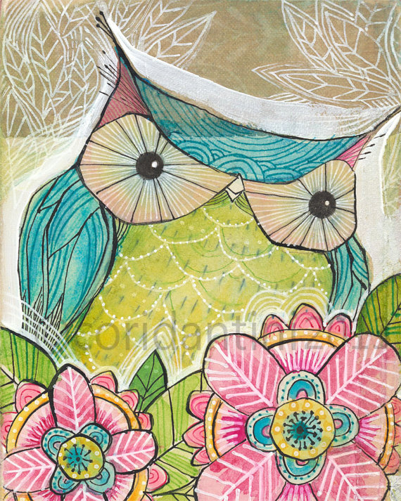Cori Dantini Owl Print